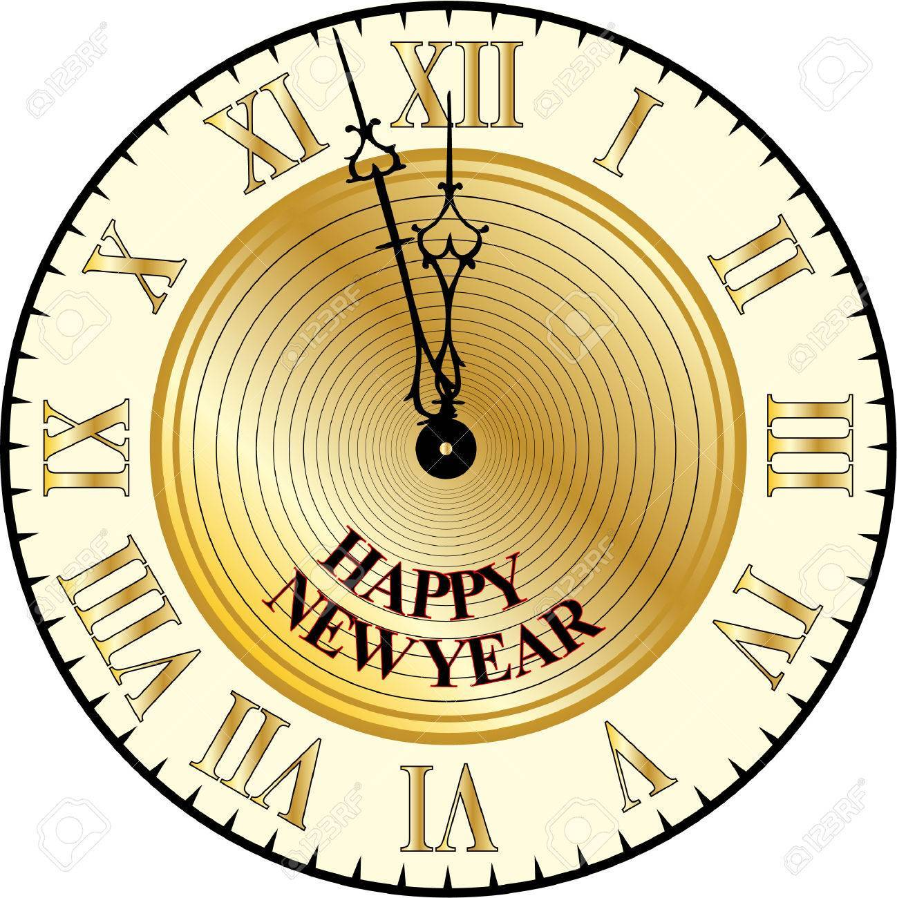 New years eve clock clipart 4 » Clipart Portal.