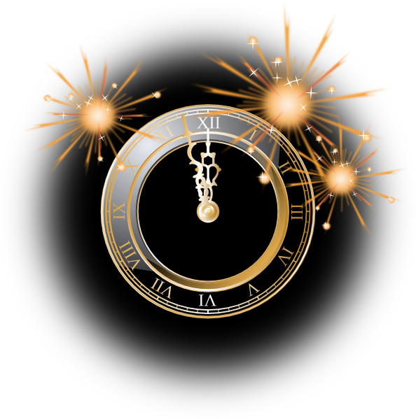 New Years Clock Clip Art at Clker.com.