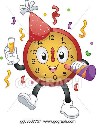 New years eve clock clipart 5 » Clipart Portal.