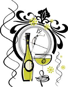 new years eve clock clip art.