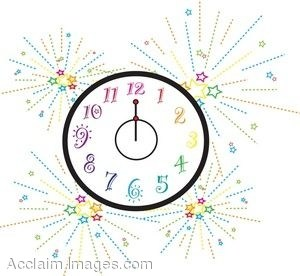 New years eve clock clipart » Clipart Portal.