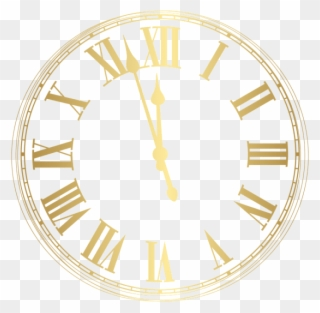 Free PNG New Years Clock Clip Art Download.