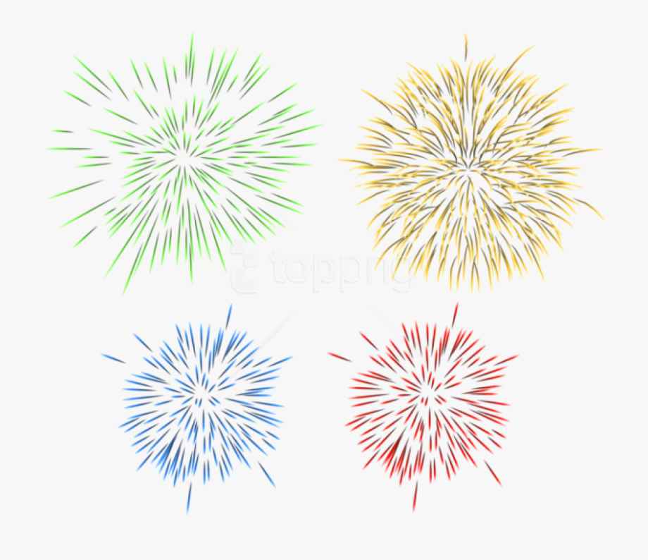 New Years Eve Clipart Single Firework.