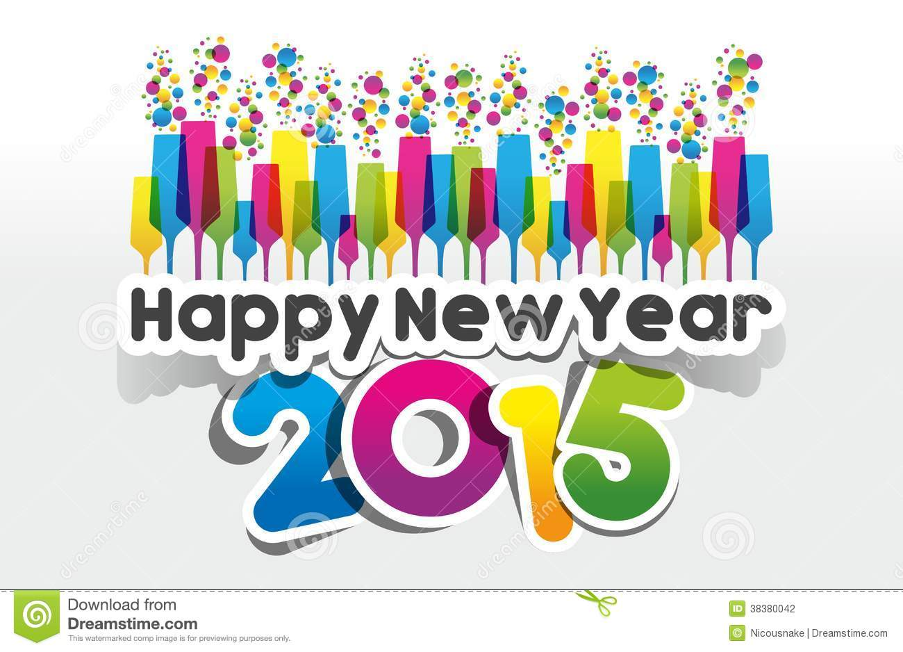 Happy New Year Greeting Clipart.