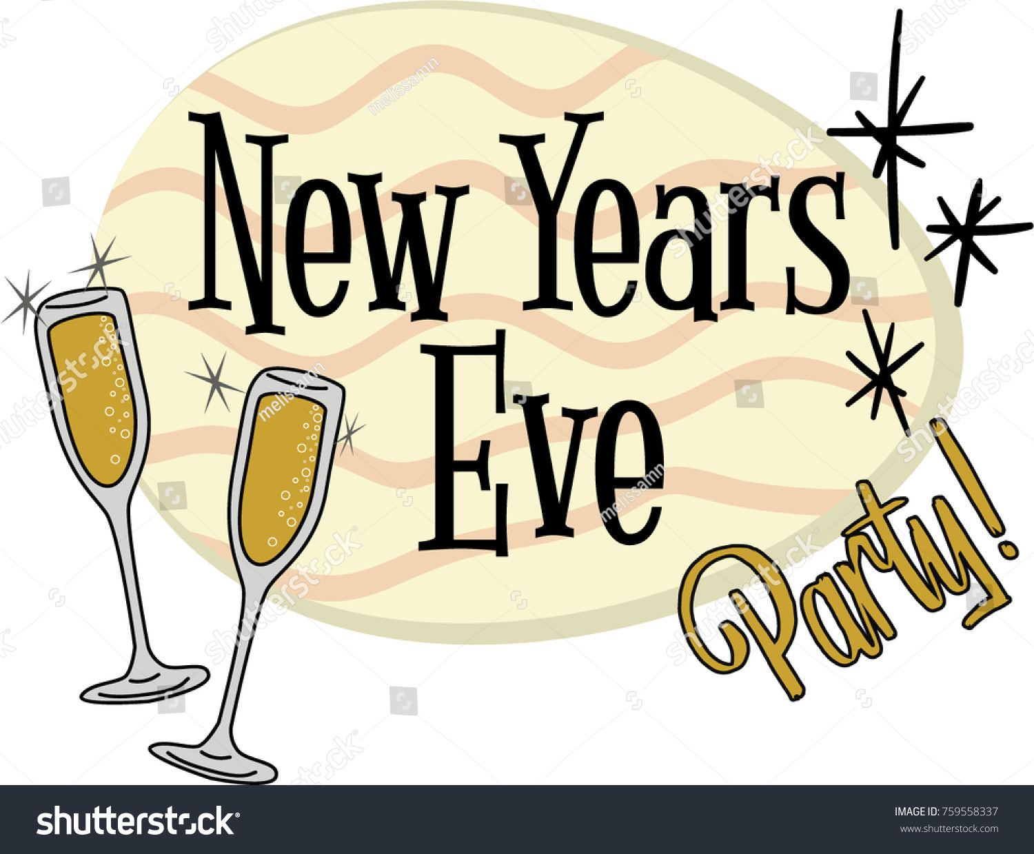 New Years Eve Party Invitation Header Stock Vector (Royalty.