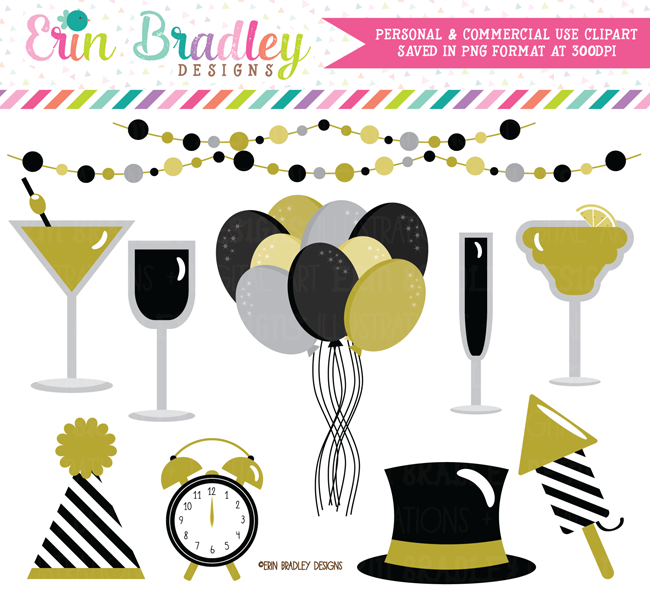 New Years Eve Party Clipart.