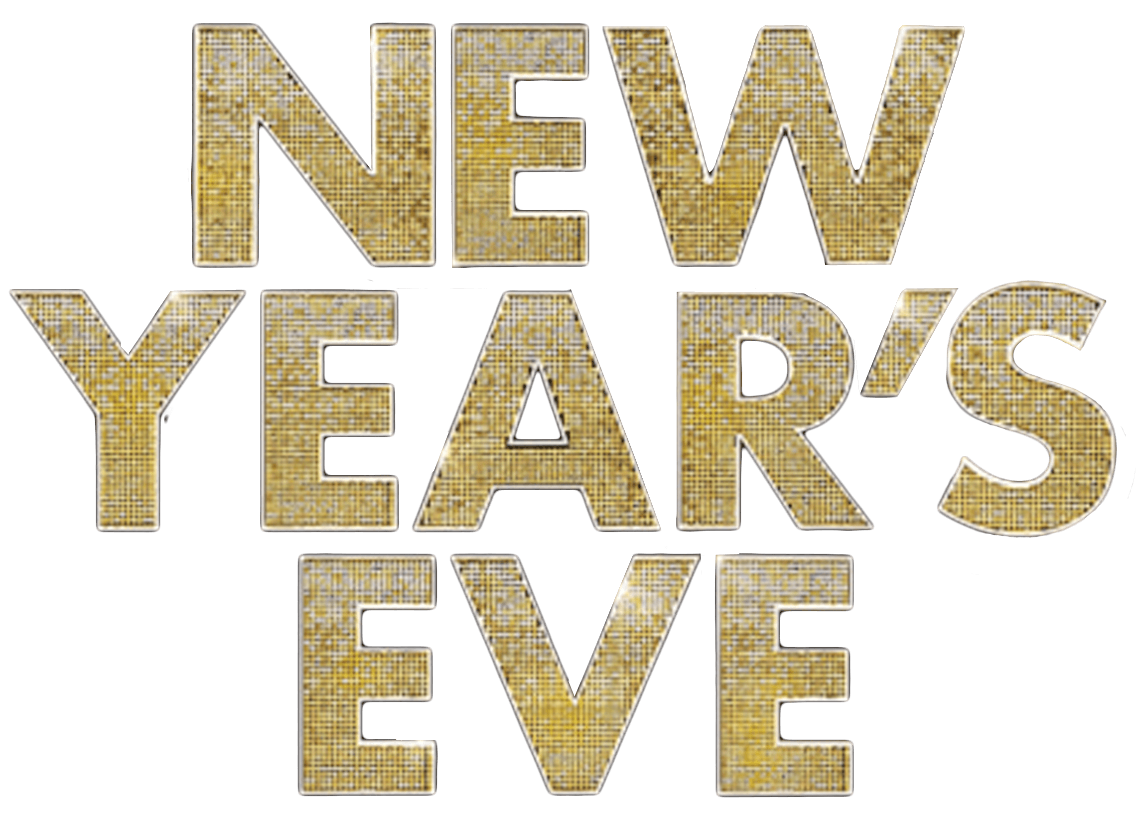 New Years Eve Logo transparent PNG.
