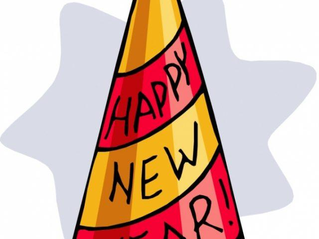 Hat Clipart new years eve 1.