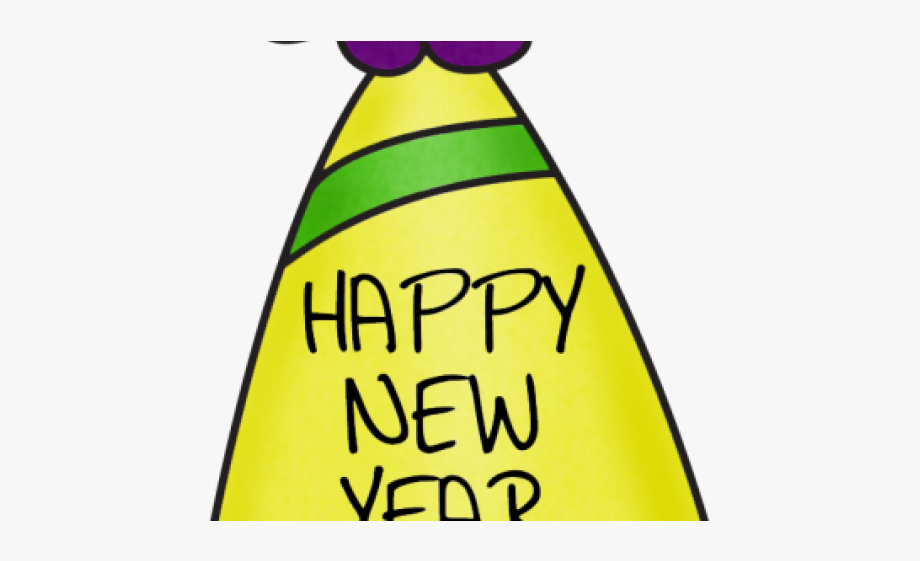 Happy New Year Clipart Party Hat #1194823.