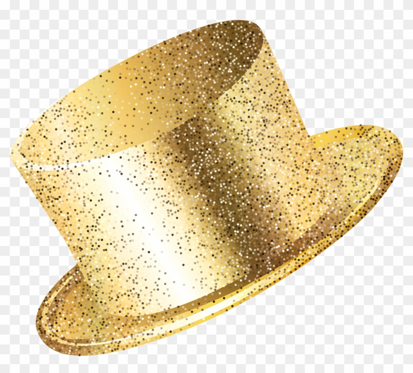 New Year Party Hat Gold Png Clip Art Image.