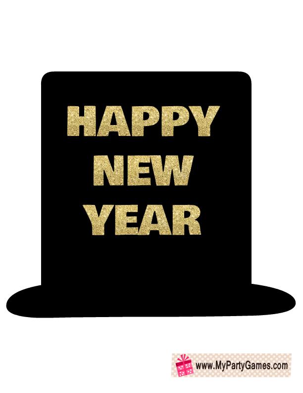 happy new year hat prop.