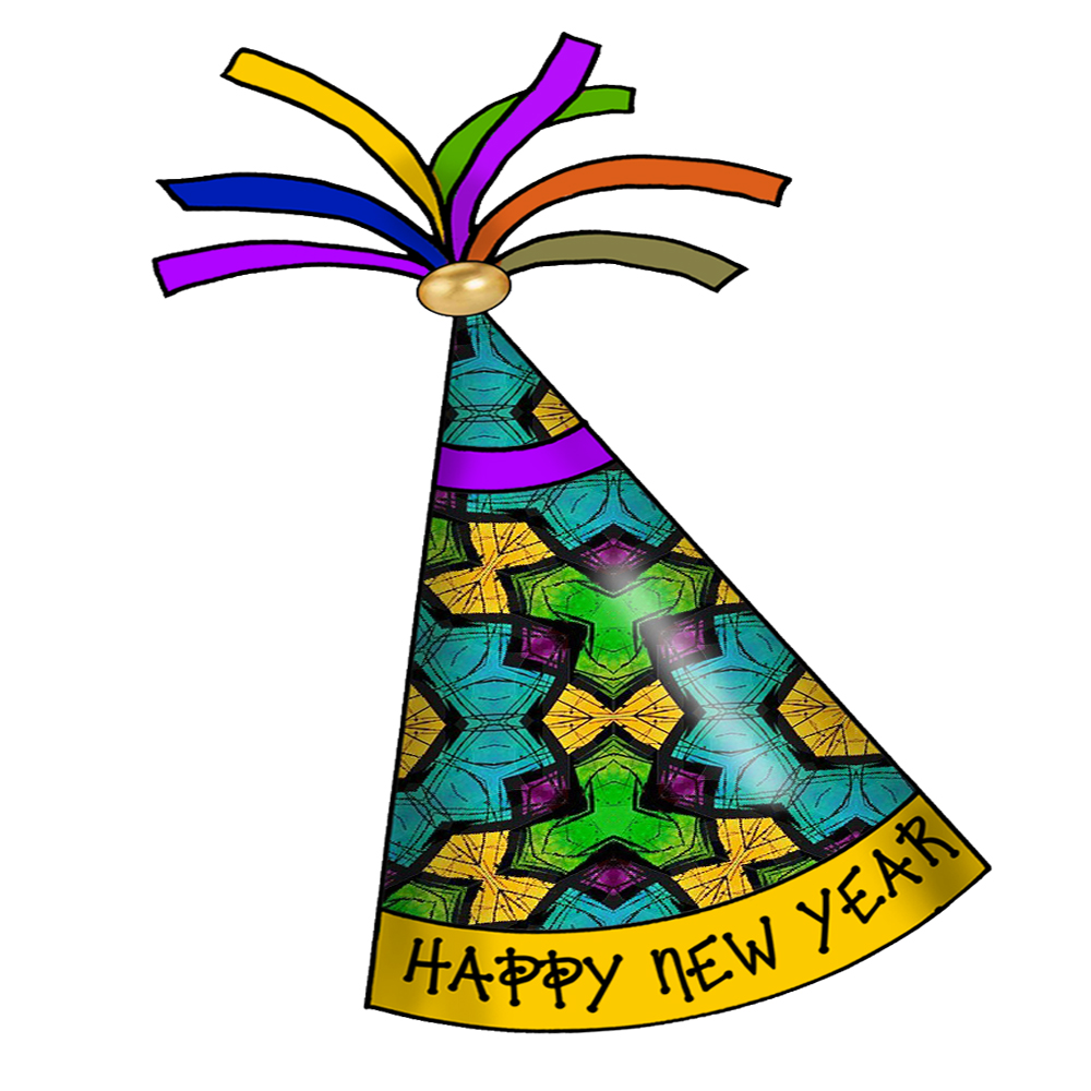 New years party favors clip art