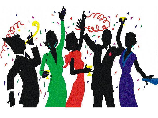 New Year's Party Clipart.