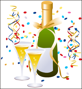 New years eve party clipart free.
