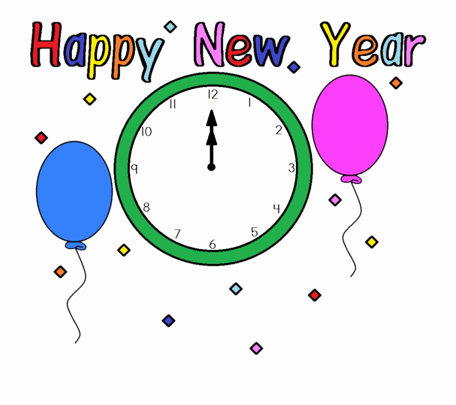 New Years Clip Art Or Banners.