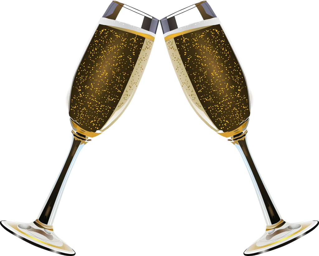 New Years Eve Champagne transparent PNG.