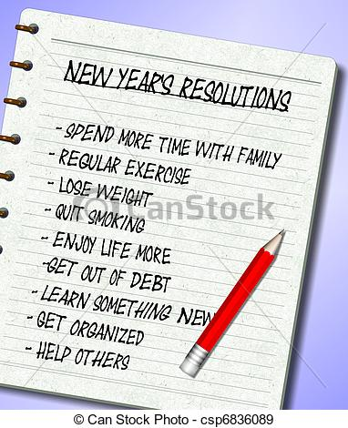 New year resolutions Stock Illustration Images. 944 New year.