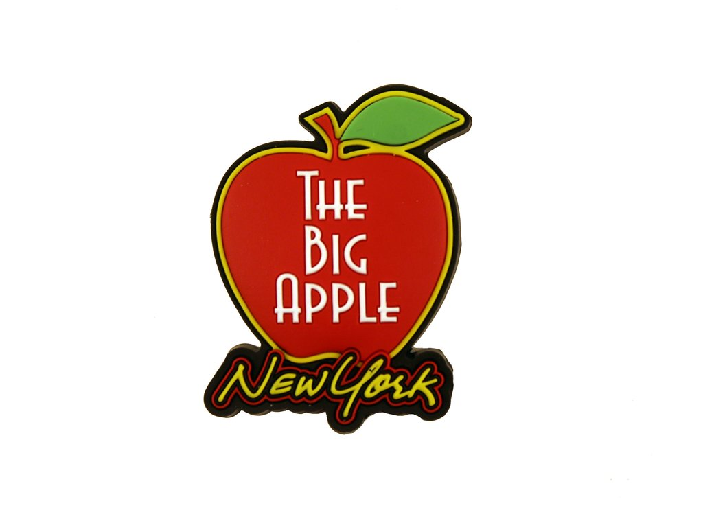 New York Big Apple Rubber Magnet.