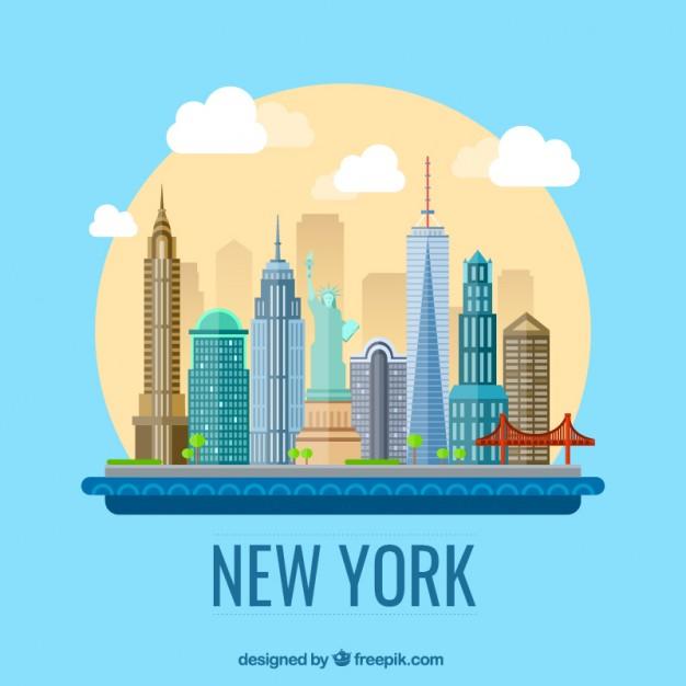 new york christmas skyline clipart color - Clipground
