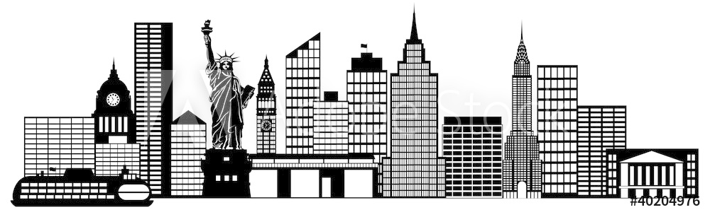 Photo & Art Print New York City Skyline Panorama Clip Art.