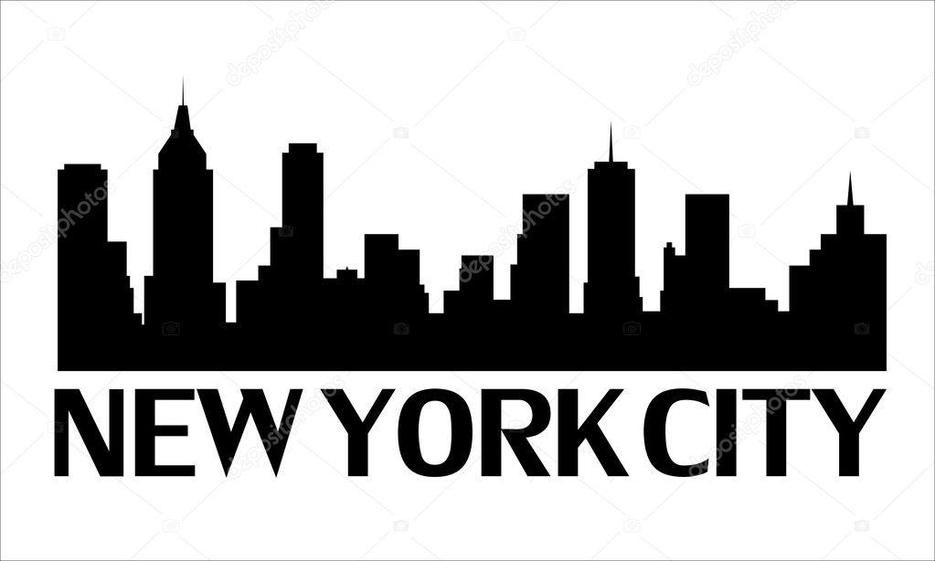 Clipart: new york city skyline cutout.