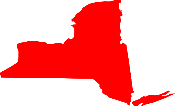 New York Map Clipart.