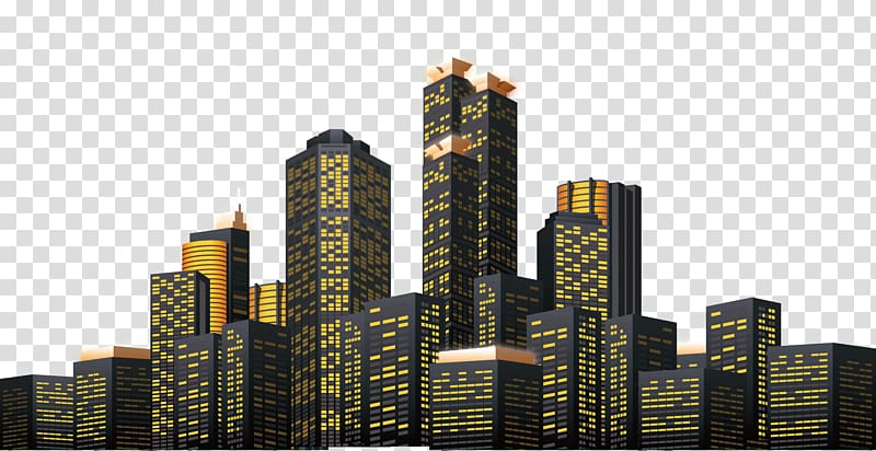 High rise building , New York City Skyline Illustration.
