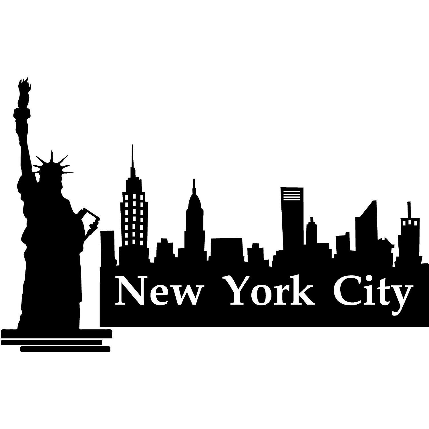 Free New York Skyline Silhouette, Download Free Clip Art.