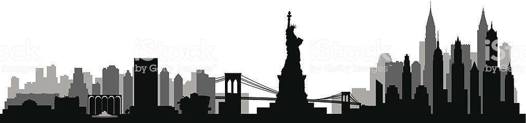 Best New York City Skyline Illustrations, Royalty.