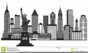 New York City Skyline Clipart Free.
