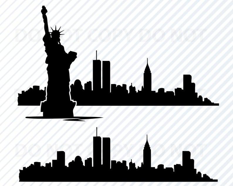 New York City Skyline SVG Files For Cricut.