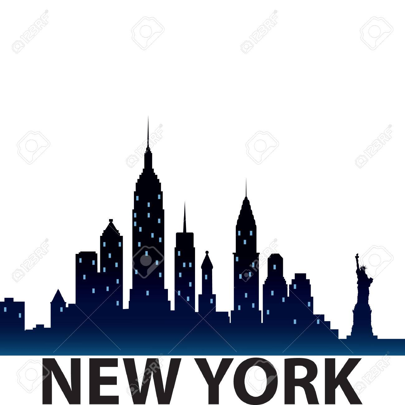 new york city skyline silhouette.