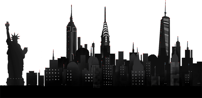 New York City PNG Skyline Transparent New York City Skyline.