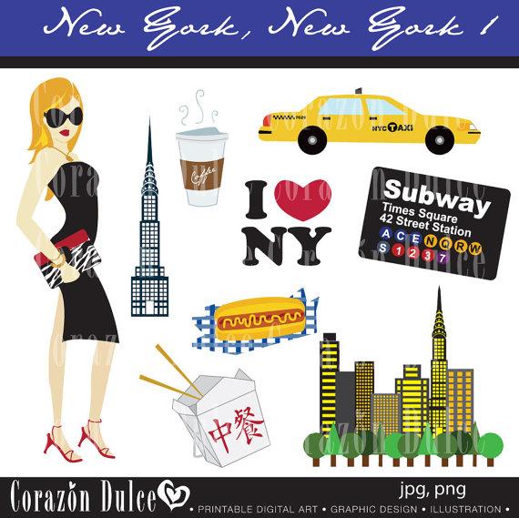 New York City Subway Clipart.