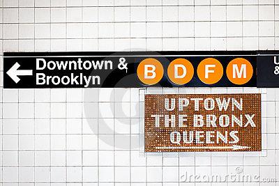 NYC Subway Sign Royalty Free Stock Images.