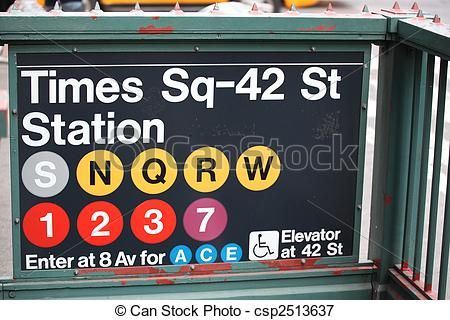 Picture of times square subway entrance in new york city.