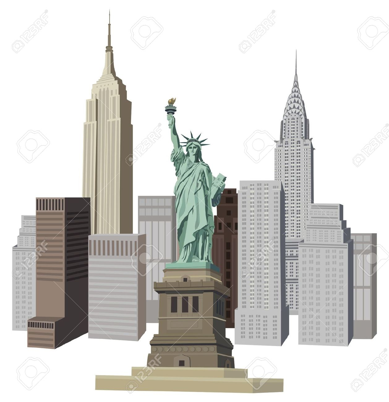 New york buildings clipart.