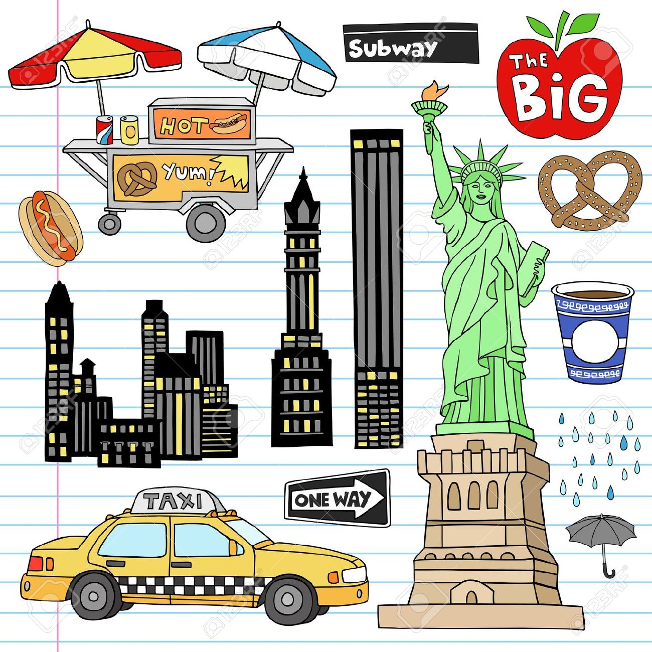 New york city clipart.