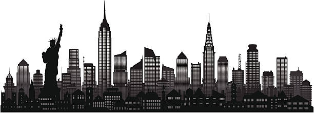 Best Manhattan New York City Black And White Illustrations.