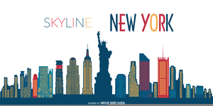 New York Skyline Clipart Free.