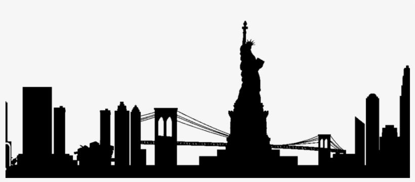 New York Silhouette Png Clipart Manhattan Skyline.