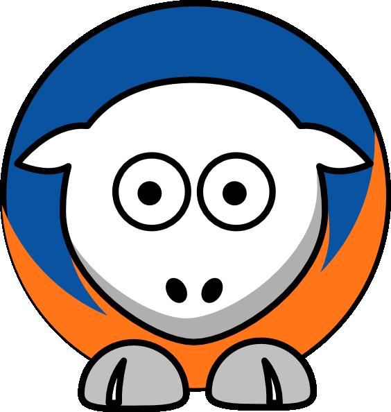 Sheep New York Knicks Team Colors Clip Art at Clker.com.
