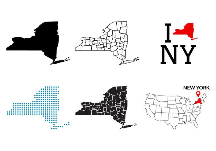 New York Map Vector.