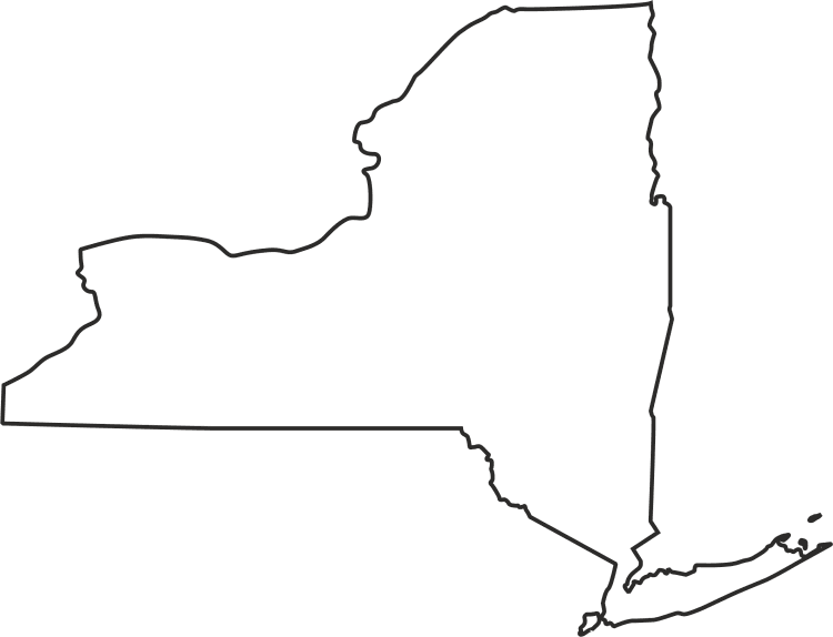 Blank New York Map.