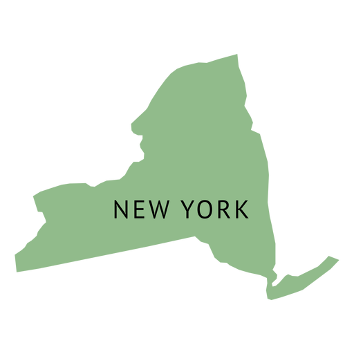 New york state plain map.