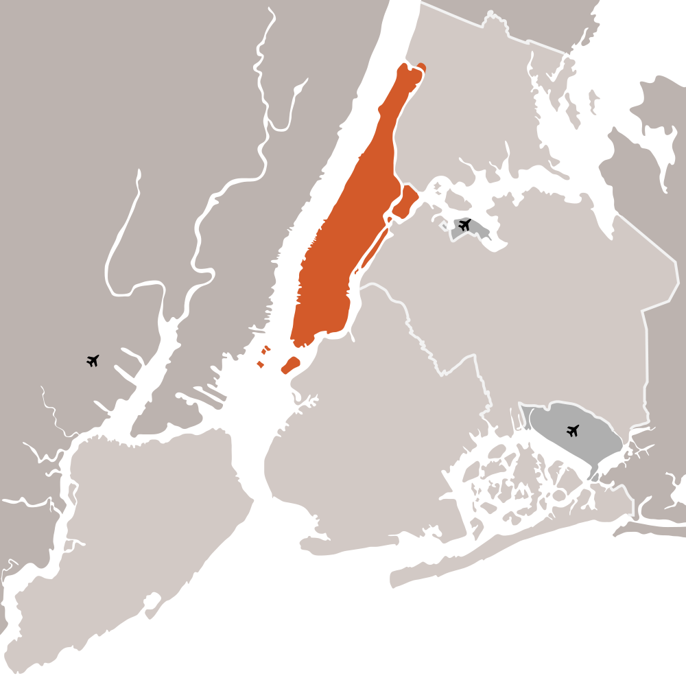 New York City And Manhattan • Mapsof.net.