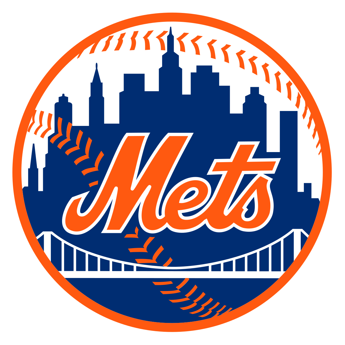Logos and uniforms of the New York Mets.