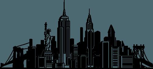 New York Skyline Png Vector, Clipart, PSD.