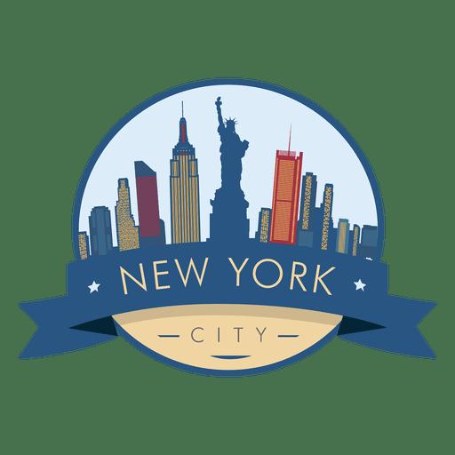 New York Skyline Badge Vector.