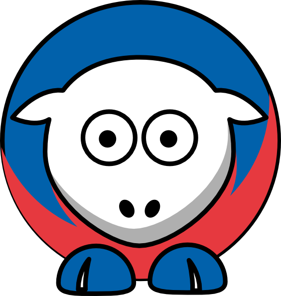 Sheep New York Rangers Team Colors Clip Art at Clker.com.